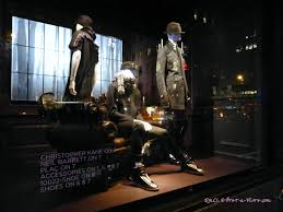 halloween window displays at saks fifth and bergdorf goodman nyc