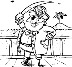 pirate on deck coloring page coloringcrew com
