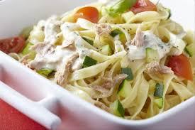 cuisiner courgettes recette de tagliatelle au thon et aux courgettes facile et rapide