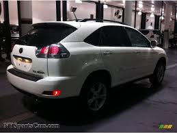 lexus rx400h colors 2008 lexus rx 400h awd hybrid in crystal white photo 2 064666