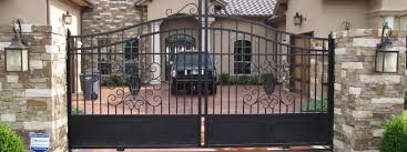 automatic driveway gates aaron ornamental iron works aaron