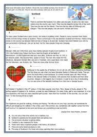 Blank Map Of Scotland Worksheet by 58 Free Esl Scotland Worksheets