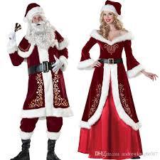 christmas costumes set of christmas costumes santa claus for adults christmas