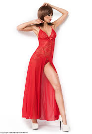 long negligee with high slit