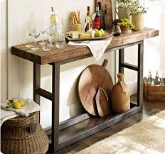 wood and iron sofa table wonderful griffin reclaimed wood and wrought iron console table from