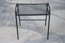Mesh Patio Furniture Metal Patio Side Table