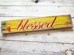 arrow decor rustic signs pallet wood sign home decor blessed