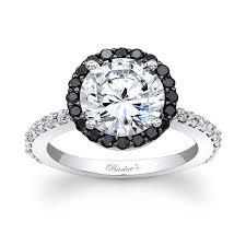 black white rings images Barkev 39 s black diamond halo engagement ring 7839lbk barkev 39 s jpg