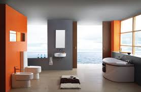 orange bathroom ideas seaside hotel bathroom gray and orange 3d house