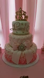 cake royal princess baby shower royal princess gold and pink