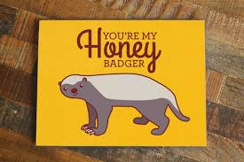 Honeybadger Meme - nerdy love card you re my honey badger