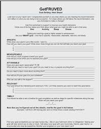 goal setting worksheet getfruved