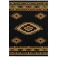 home decorators area rugs home decorators collection aztec black 4 ft x 6 ft area rug