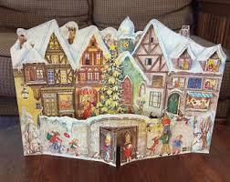 Vintage German Christmas Decorations by Vintage Advent Calendars Etsy