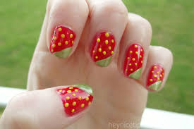 strawberry nail design how you can do it at home pictures
