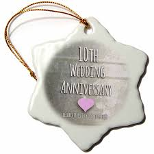 10th wedding anniversary 3drose orn 154441 1 10th wedding anniversary gift tin