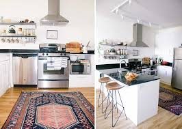 the ballsiest of kitchen rug ideas wit delight