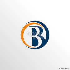 monogram letter b monogram letter b marketing logo icon with circle stock image and