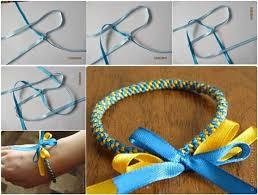 easy bracelet images How to weave diy easy ribbon bracelet jpg