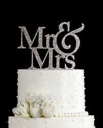 in cake toppers glitter mr and mrs wedding cake toppers in your choice of