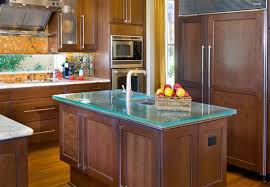 kitchen island countertop another glass countertop that adds edge to a kitchen and seems
