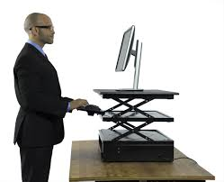 Portable Standing Laptop Desk by Electric Changedesk Adjustable Standing Desk