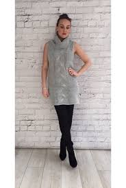 sleeveless rollneck jumper dress grey from ruby room uk