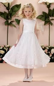 catholic communion dresses communion dress with satin bow waist and floral appliquéd