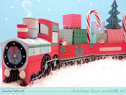 christmas train set favor box and party centerpiece holds