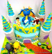 the sensational cakes blue dragon castle cake singapore