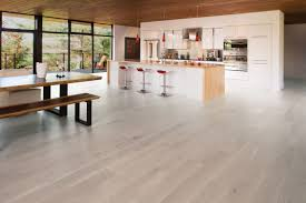 engineered parquet flooring glued white oak matte white