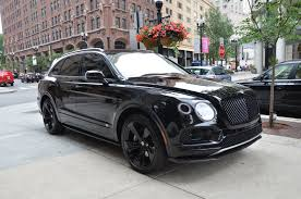 black bentley sedan 2018 bentley bentayga black edition stock b960 for sale near