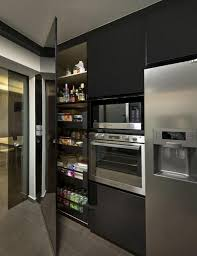 Super Modern Kitchen Pantry Cabinets Rilane - Black kitchen pantry cabinet