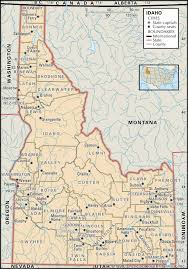 counties map historical facts of idaho counties guide