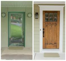 How To Make A Exterior Door Difference Adding Door Trim Makes Pinteres
