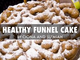 healthy funnel cake by ciona davis