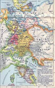 map germany and of germany and italy in 1806
