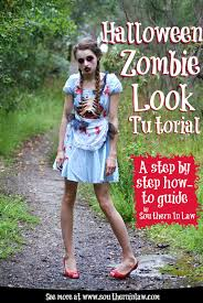 Zombie Look For Halloween by Southern In Law Step By Step Halloween Zombie Look Tutorial