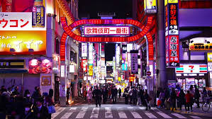 japan red light district tokyo tokyo japan march 14 2014 traffic in kabuki cho district of