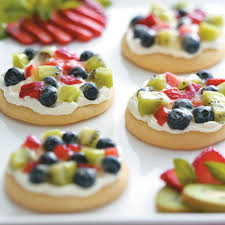 sugar cookie fruit pizzas recipe taste of home