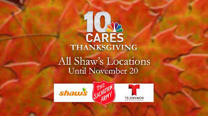 donate food items to 10 cares thanksgiving wjar