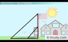 applications of similar triangles video u0026 lesson transcript