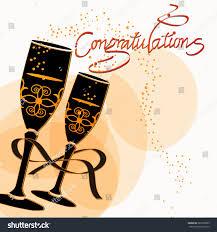 champagne glasses clipart congratulations celebration champagne glasses eps10 stock vector