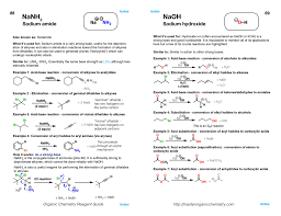organic chemistry reagent guide organic chemistry chemistry and
