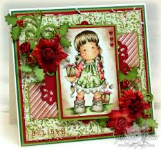 christmas card by suzanne j dean of scrap bitz using magnolia