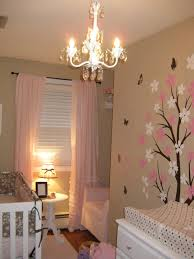 Ruffled Pink Curtains Pink Ruffled Curtains Traditional Nursery Behr Pecan Sandie