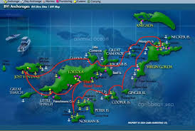 map of the bvi bvi map and itinerary