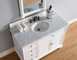 abstron 48 inch white finish single cottage bathroom vanity