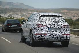 Audi Q5 New Design - 2017 audi q5 makes spy photo debut with new family face