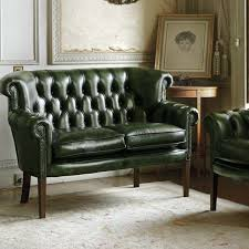 canap chesterfield cuir 2 places canapé chesterfield en cuir 2 places vert alfred fleming